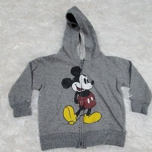 Disney parks mickey zippered  hooded sweater 2T